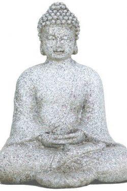 Meditatie Boeddha steengrijs