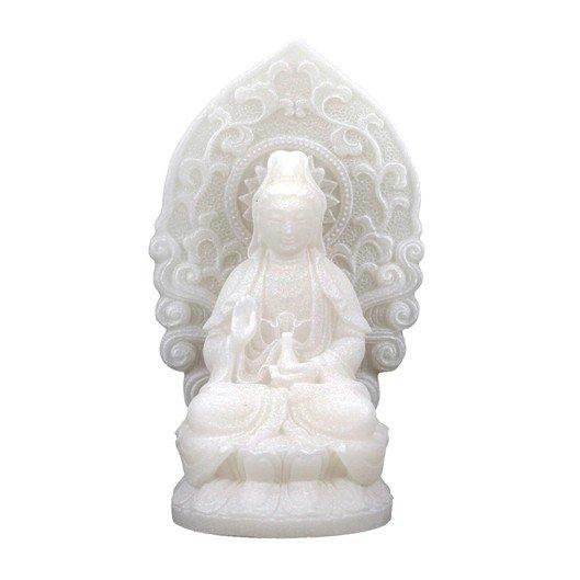 Quan Yin beeldje wit