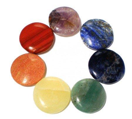 Edelstenen: SET 7 chakra stenen rond
