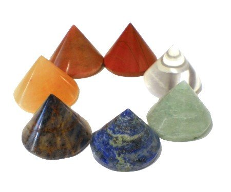 Edelstenen: SET 7 chakra kegel stenen