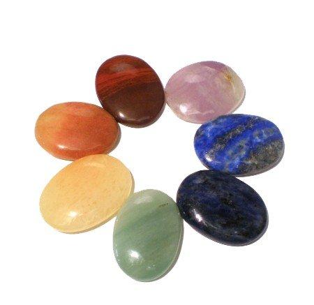 Edelstenen: SET 7 chakra stenen ovaal
