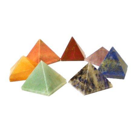 Edelstenen: SET 7 chakra piramide stenen