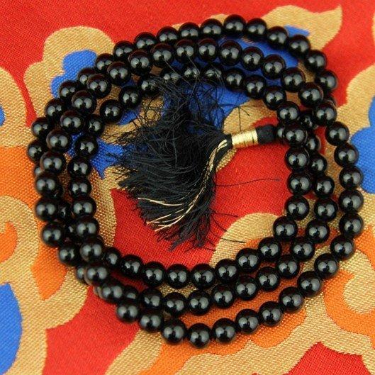 Mala Onyx zwart AA-kwaliteit 108 kralen
