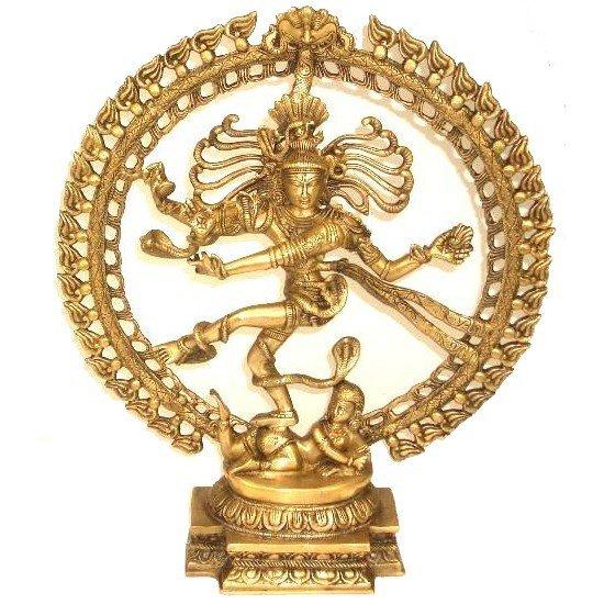 Shiva Nataraj messing 1 kleur middelmaat