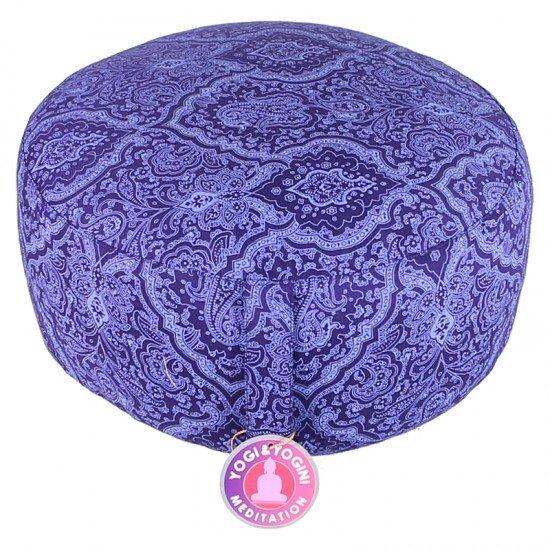 Meditatiekussen - India print donkerblauw