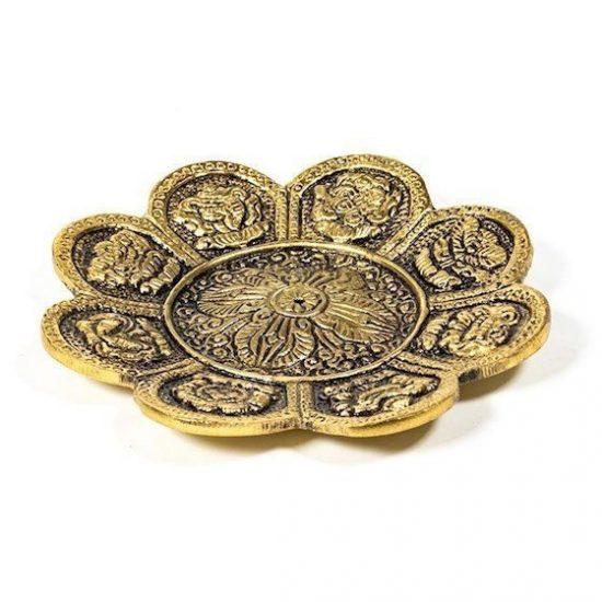 Wierookbrander 8 voorspoedsymbolen goud