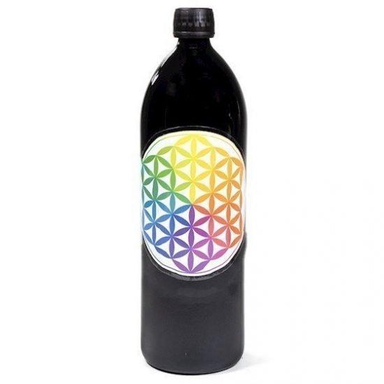 Drinkfles Miron violet /Flower of Life veelkleurig