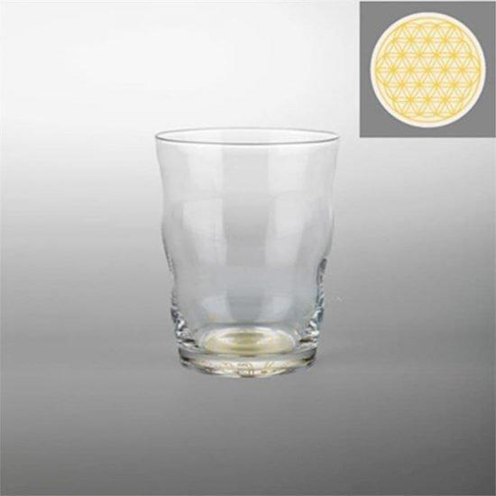 Drinkglas Jasmina met Bloem des Levens goud