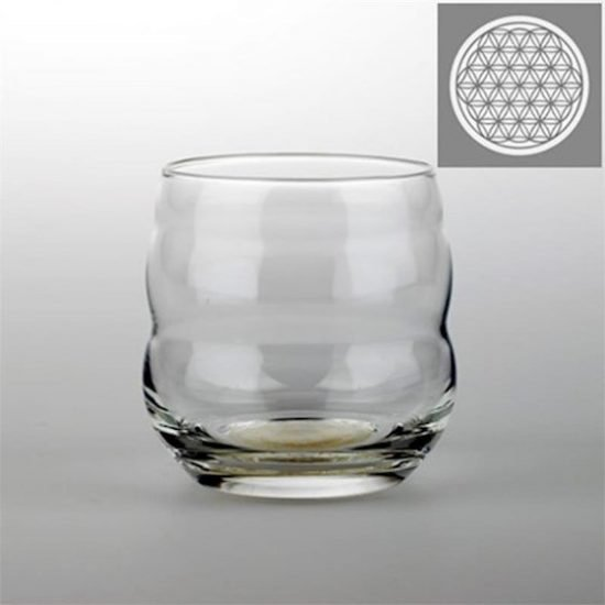 Drinkglas Mythos met Bloem des Levens platina