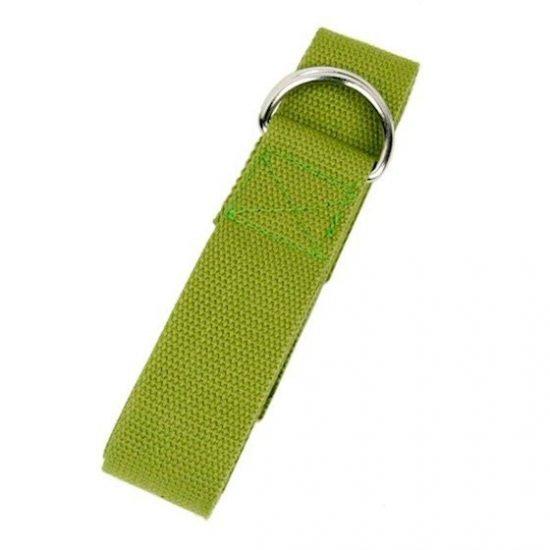 Yoga riem D-ring olijfgroen katoen